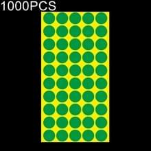 1000 PCS ronde vorm zelfklevende kleurrijke Mark sticker Mark label (groen)