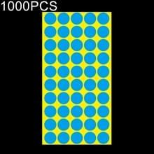 1000 PCS ronde vorm zelfklevende kleurrijke Mark sticker Mark label (blauw)