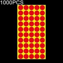 1000 PCS ronde vorm zelfklevende kleurrijke Mark sticker Mark label (rood)