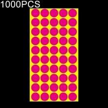 1000 PCS ronde vorm zelfklevende kleurrijke Mark sticker Mark label (Rose rood)