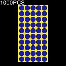 1000 PCS ronde vorm zelfklevende kleurrijke Mark sticker Mark label (Sapphire Blue)