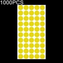 1000 PCS ronde vorm zelfklevende kleurrijke Mark sticker Mark label (geel)