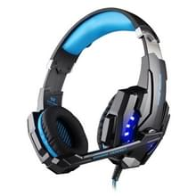 KOTION EACH G9000 USB 7.1 Surround Sound Version Game Gaming Headphone Computer Headset Earphone Headband with Microphone LED Light Cable Length: About 2.2m(Blue + Black)