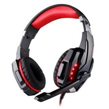 KOTION EACH G9000 USB 7.1 Surround Sound Version Game Gaming Headphone Computer Headset Earphone Headband with Microphone LED Light Cable Length: About 2.2m(Red + Black)