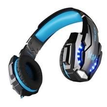 KOTION elk G9000-3.5mm-spel Gaming hoofdtelefoon hoofdtelefoon Koptelefoon hoofdband met microfoon LED licht voor Laptop / Tablet / mobiele telefoons  Kabel Lengte: ongeveer 2.2 m (blauw + zwart)