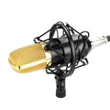 FIFINE F-700 professionele condensator geluid opnamemicrofoon met Shock Mount voor Studio Radio Omroep & Live Boardcast  3.5mm koptelefoon poort  kabellengte: 2.5m(Black)