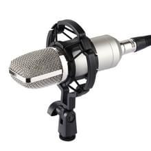 FIFINE F-700 professionele condensator geluid opnamemicrofoon met Shock Mount voor Studio Radio Omroep & Live Boardcast  3.5mm koptelefoon poort  kabellengte: 2.5m(Silver)