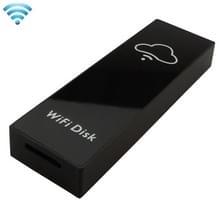 IBank Mini WiFi Wireless opslag Box Hard Drive schijf USB Driver kaartlezer met 700mAh batterij voor mobiele telefoons & tabletten  compatibel met Android 3.0 of hoger en IOS 5.1.1 of boven  Support Micro SD Card / TF kaart maximaal 128GB  grootte: 84 x 2