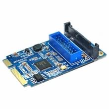 MINI PCI-E to USB 3.0 Front 19 Pin Desktop PC Expansion Card (Blue)