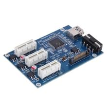 PCI-E 1 to 3 PCI Express 1 Slots Riser Card 3 PCI-E Slot Adapter PCI-E Port Multiplier Card with 60cm USB Cable(Blue)