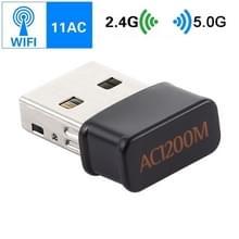 AC1200Mbps 2.4GHz & 5GHz Dual-Band USB 2.0 WiFi Adapter externe netwerkkaart (zwart)
