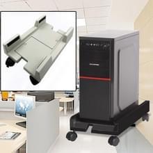 Computer mainframe host verstelbare beugel met wiel  maat: S (wit)