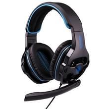 SADES SA-810 3.5mm Gaming Headset bedrade Hoofdtelefoon met Afstandsbediening + Microfoon voor PC  Laptop (zwart + blauw)