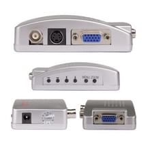 HOWEI HW-2404 BNC / S-Video naar VGA Video Converter (Blauw)