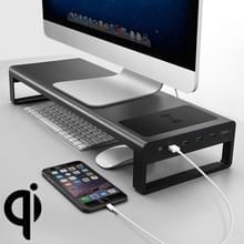 Vaydeer Desktop PC Draadloos opladen Scherm verhogen plank opslag rack