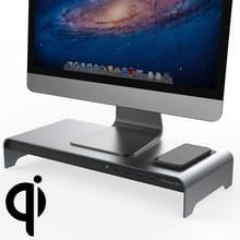 Vaydeer Desktop PC Display verhogen plank opslagrek met 4 USB-poort  draadloze oplaadversie