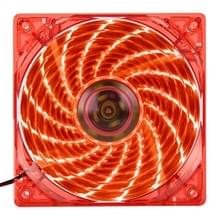 12025 4 Pin DC 12V 0.30A Computer hoesje Cooler Cooling Fan met LED licht, Afmeting: 120x120x25mm (rood)