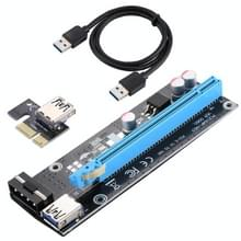 PCI-E Express 1X to 16X Riser Card Adapter + USB 3.0 Extender Cable + SATA Cable