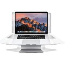 SOPI ZJ-001 rotatie stijl aluminium koeling staan met onhartelijk waaier voor Laptop, geschikt voor Mac Air, Mac Pro, iPad, nl andere Laptops (zilver)