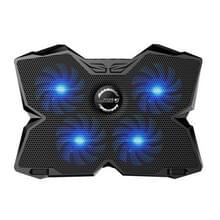 Ijs Troll II COOLCOLD vier Fans Cooling Pad luchtgekoeld Radiator koelen Pads voor Gaming Laptop Notebook met dubbele USB-Interface(zwart)