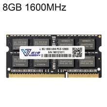 Vaseky 8 GB 1600 MHz PC3-12800 DDR3 PC RAM-geheugenmodule voor Laptop