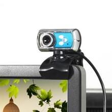 A7170 12.0 Megapixels HD 360 graden draaibaar USB 2.0 WebCam / PC Camera met microfoon & 3 LED lampjes voor Skype Computer PC Laptop  kabel lengte: 1.45 meter (blauw)