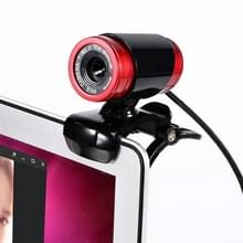HXSJ A860 30fps 12 Megapixel 480P HD webcam voor desktop/laptop  met 10m geluidsabsorberende microfoon  lengte: 1.4 m (rood + zwart)
