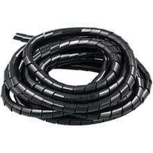 10m PE spiraal buizen draad Winding organisator Tidy buis  nominale Diameter: 6mm(Black)