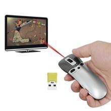 PR-05 2.4G draadloze 6D gyroscoop Fly Air Mouse Laser aanwijzer Pen Presenter voor PC / Laptop onderwijs conferentie toespraak
