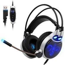 SADES SA908 fysieke 7.1 Surround USB Interface trillingen Volume Control Gaming Headset  kabellengte: over 3 m  voor PC  Laptops  Computers  PS4  iPhone  iPad  iPod  Samsung  HTC  Sony  Huawei  Xiaomi en andere Audio-apparaten