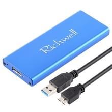 Richwell SSD R16-SSD - 240GB 2.5 inch van 240GB USB3.0 naar NGFF(M.2) Interface mobiele harde schijf Box(Blue)