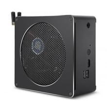 Mini PC voor Intel Core 8th gen i7-8750H 4G + 128G Six Core 2.2-4.1 GHz  met ventilator & antenne  ondersteuning Bluetooth 4 2 & 2.4 G/5.0 G Dual-band WiFi & RJ45 Gigabit bedrade netwerkkaart (zwart)