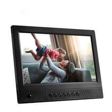 10 1 inch Ultra-thin Front spreker met menselijke lichaam inductie elektronische fotoalbum met LED ademhaling licht digitale foto Frame(Black)