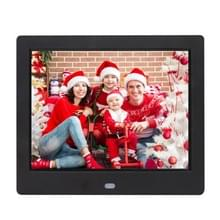 AC 100-240V 8 inch TFT Screen Digital Photo Frame with Holder & Remote Control  Support USB / SD Card Input (Black)