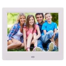 AC 100-240V 8 inch TFT Screen Digital Photo Frame with Holder & Remote Control  Support USB / SD Card Input (White)