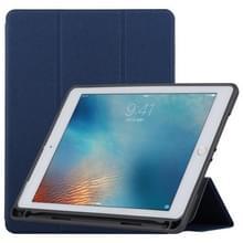 TOTUDESIGN gordijn serie horizontale Flip lederen case voor iPad Pro 9 7 inch  met houder & pen sleuf (blauw)