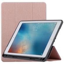 TOTUDESIGN gordijn serie horizontale Flip lederen case voor iPad Pro 9 7 inch  met houder & pen sleuf (Rose goud)