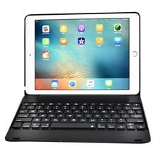 F19B voor iPad 9 7 (2018) & iPad Air & Air 2 & iPad Pro 9 7 & nieuwe iPad 9.7 inch (2017) Ultra-thin ABS horizontale Flip Case + Bluetooth Keyboard(Black)