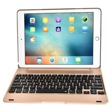 F19B voor iPad 9 7 (2018) & iPad Air & Air 2 & iPad Pro 9 7 & nieuwe iPad 9.7 inch (2017) Ultra-thin ABS horizontale Flip Case + Bluetooth Keyboard(Gold)