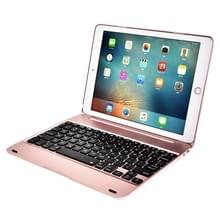 F19B voor iPad 9 7 (2018) & iPad Air & Air 2 & iPad Pro 9 7 & nieuwe iPad 9.7 inch (2017) Ultra-thin ABS horizontale Flip Case + Bluetooth Keyboard(Rose Gold)