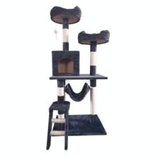 [JPN-magazijn] Multilayer Cat Climbing Frame Tree Nest Activity Tower Pet House  Grootte: 60x50x141cm (Grijs)