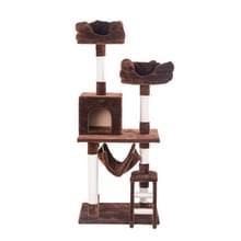 [JPN-magazijn] Multilayer Cat Climbing Frame Tree Nest Activity Tower Pet House  Grootte: 60x50x141cm (Bruin)