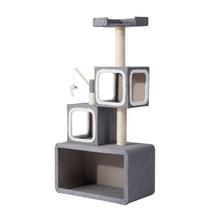 [JPN-magazijn] Meerlaagse stapelbare kat klimmen Cube Tree Nest Activiteit Tower Pet House  Grootte: 40x70x140cm (Grijs)