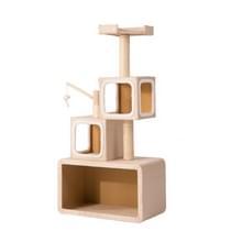 [JPN-magazijn] Meerlaagse stapelbare kat klimmen Cube Tree Nest Activiteit Tower Pet House  Grootte: 40x70x140cm (Beige)