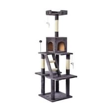 [JPN-magazijn] Multilayer Cat Climbing Frame Tree Nest Activity Tower Pet House  Grootte: 45x45x155cm (Grijs)