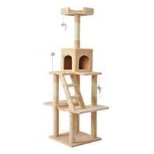 [JPN-magazijn] Multilayer Cat Klimmen Frame Tree Nest Activiteit Tower Pet House  Grootte: 45x45x155cm (Beige)