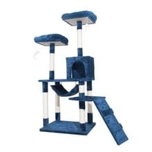 [JPN-magazijn] Multilayer Cat Climbing Frame Tree Nest Activity Tower Pet House  Grootte: 50x50x145cm (Navy Blue)