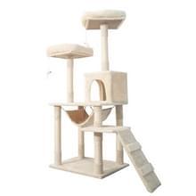 [JPN-magazijn] Multilayer Cat Klimmen Frame Tree Nest Activiteit Tower Pet House  Grootte: 50x50x145cm (Beige)