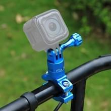 [UAE voorraad] PULUZ 360 graden rotatie fiets aluminium stuur adapter mount met schroef voor GoPro HERO8 zwart/Max/HERO7  DJI OSMO actie  Xiaoyi en andere Actiecamera's (blauw)