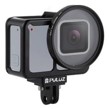 PULUZ Shell CNC aluminiumlegering beschermende kooi met verzekering Frame & 52mm UV Lens huisvesting voor GoPro HERO7 Silver /7 White(Black)